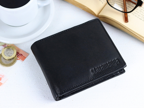 View our  Black Trifold Leather Wallet from the   collection