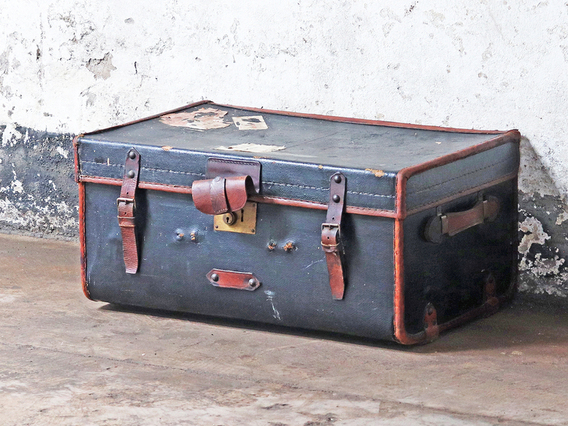 View our  Travel Trunk Side Table from the  Old Travel Trunks collection