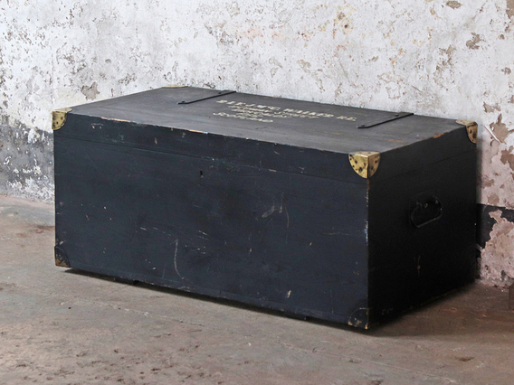 View our  Old Black Military Trunk from the  Coffee Table Chest collection