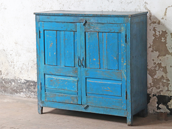 Blue Storage Cupboard