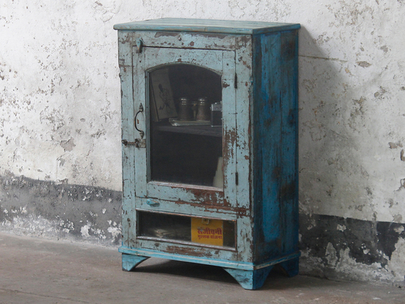 View our  Blue Glass Cabinet from the  Vintage Cabinets & Cupboards collection