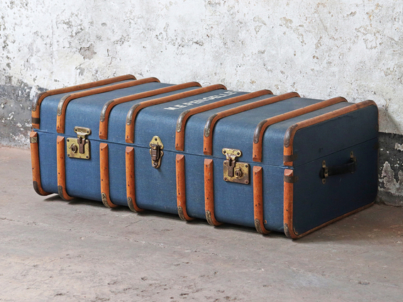 View our  Blue Steamer Trunk from the  Sold collection