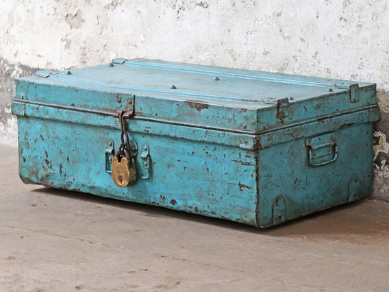 View our  Blue Vintage Trunk  from the  Hallway collection