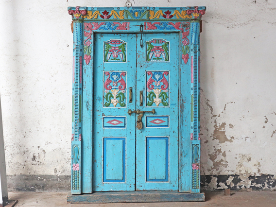 View our  Ornate Blue Antique Door from the   collection