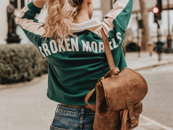 View our Women Womens Boho Leather Backpack - Mini from the Women Leather Satchels & Bags collection
