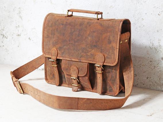 Boys And Girls Medium Leather Satchel