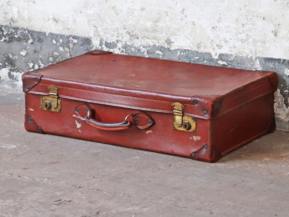 View our  Vintage Leather Suitcase from the   collection
