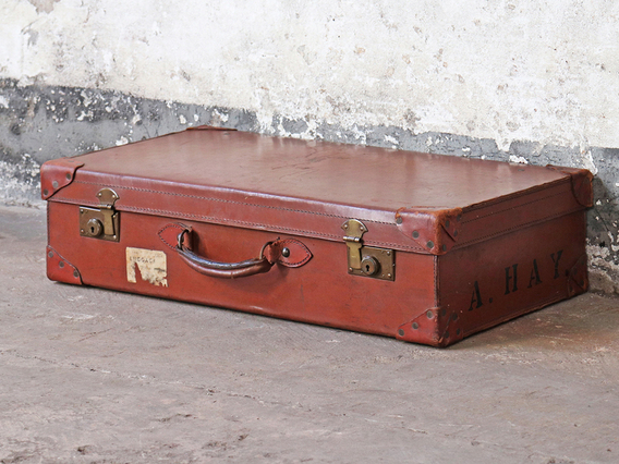 View our  Brown Vintage Suitcase from the  Hallway collection