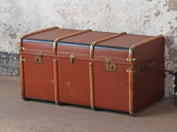 View our  Brown Steamer Trunk from the  Old Travel Trunks collection