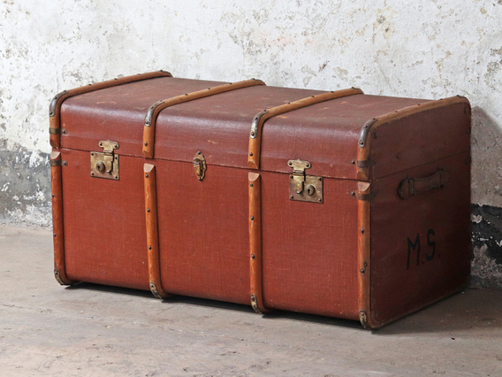 View our  Large Vintage Trunk from the  Sold collection
