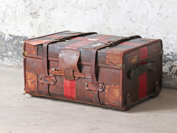 View our  Vintage Travel Trunk from the  Coffee Table Chest collection