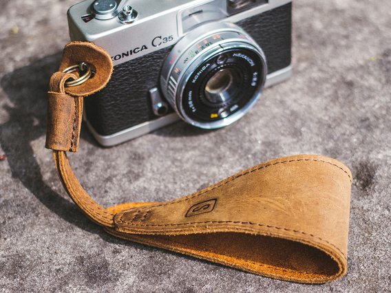 View our  Leather Camera Wrist Strap from the   collection