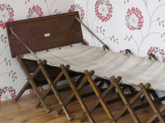 Military Campaign Bed Antique Military Campaign Bed