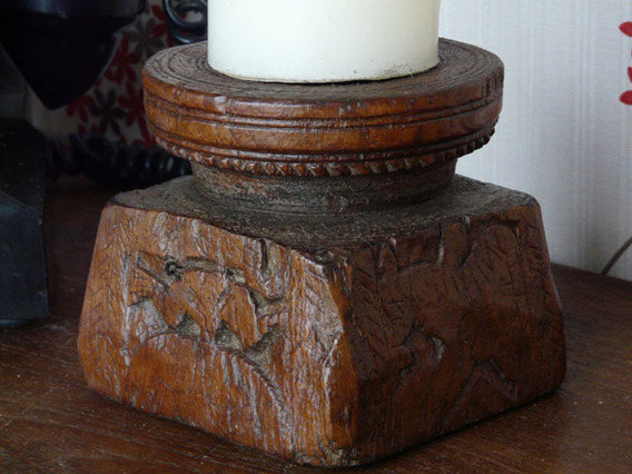 View our  Old Wooden Candleholder 729 from the   collection