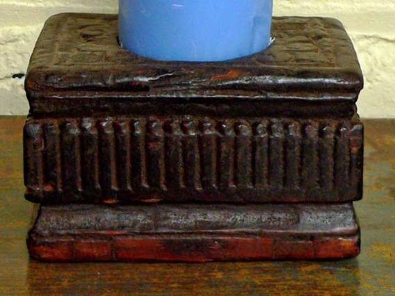 Carved Candleholder 25