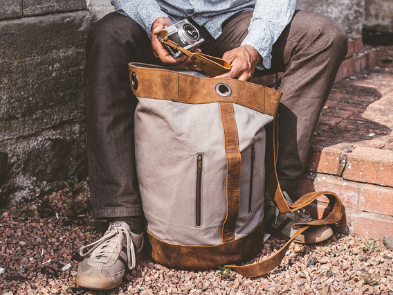 Canvas Duffle Shoulder Bag