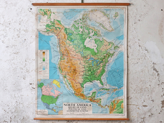 View our  Vintage Map of North America from the  Vintage Postcards & Posters collection