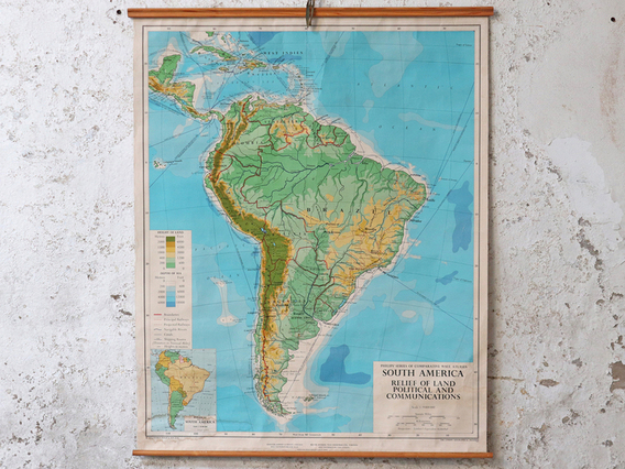 View our  Vintage Map of South America from the  Vintage Postcards & Posters collection