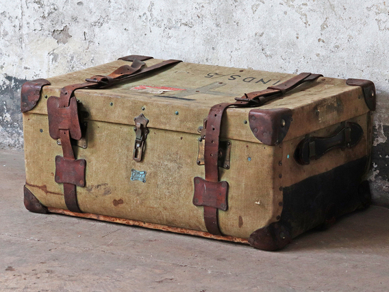 Canvas Military Trunk