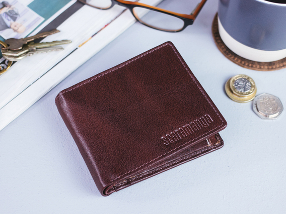 View our  Chestnut Brown Leather Wallet from the  Landing Pages collection