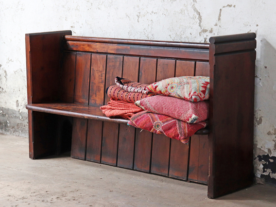 View our  Vintage Church Pew  from the   collection