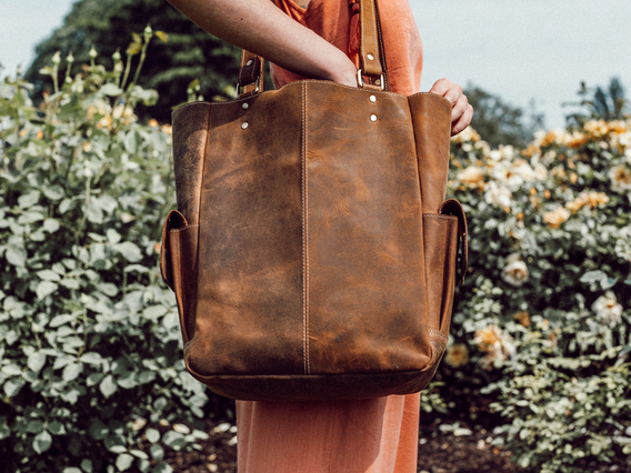 View our Women Classic Leather Tote Bag from the Women Leather Satchels & Bags collection