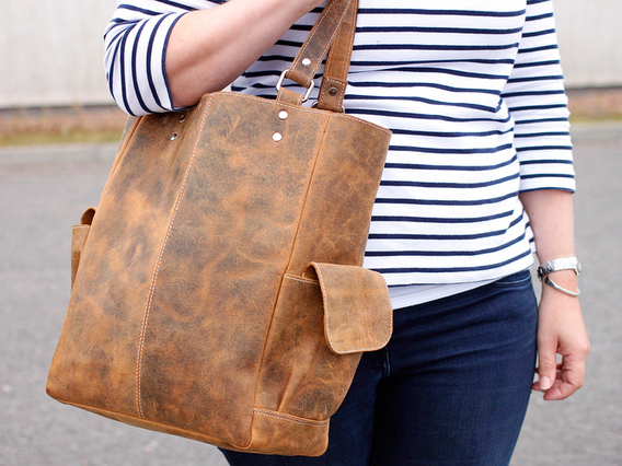 View our  Classic Leather Tote Bag from the   collection
