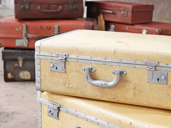 View our  Classic Vintage Suitcase - Small from the  Sold collection