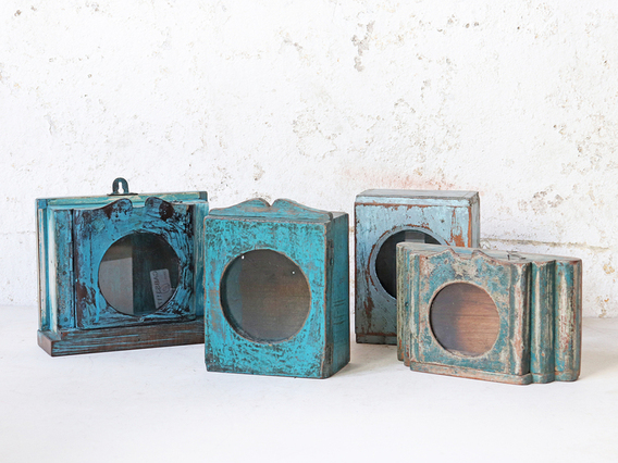 View our  Turquoise Clock Case from the  Hallway collection