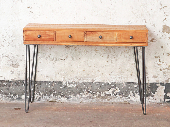 View our  Console Table - 4 Drawers from the  Vintage Cabinets & Storage Cupboards collection