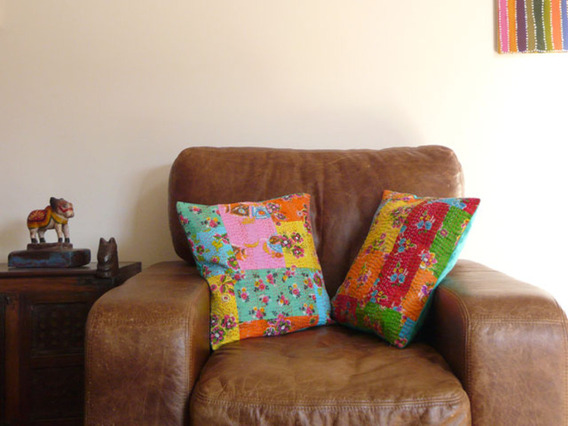 View our  Fleur Cushion Cover from the  Vintage Wooden Pots collection