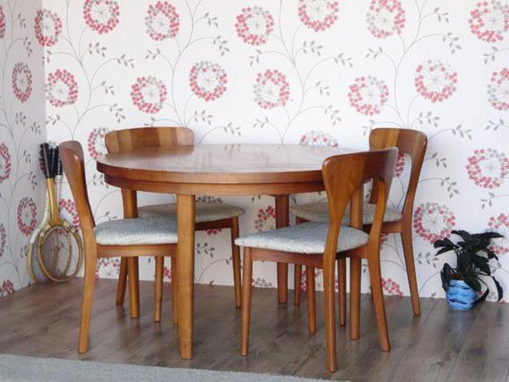 Retro Danish Teak Chairs By Koefoeds Hornslet