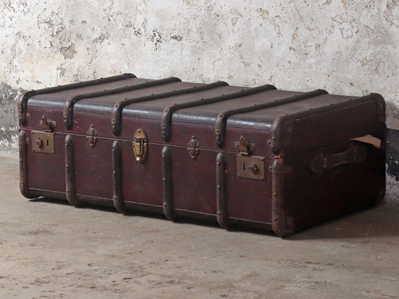 View our  Vintage Steamer Trunk from the  Sold collection