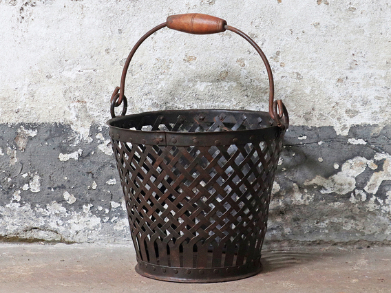 View our  Vintage Wire Basket - Medium from the  Hallway collection