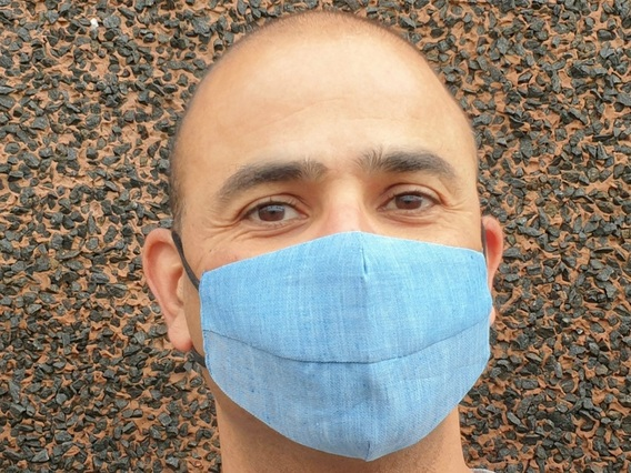 Denim Blue Face Mask