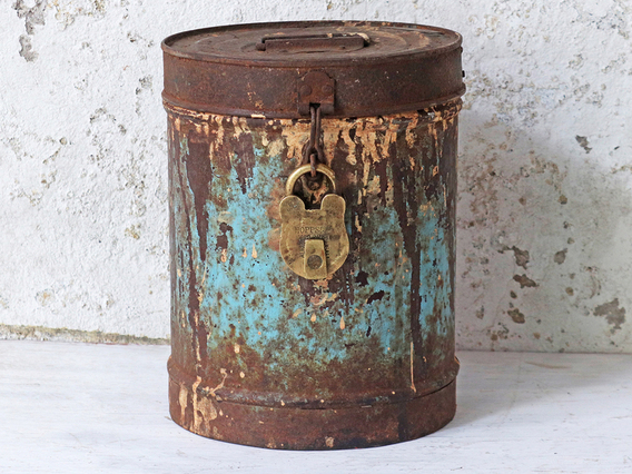 View our  Blue Metal Storage Tin  from the  Kitchen  collection