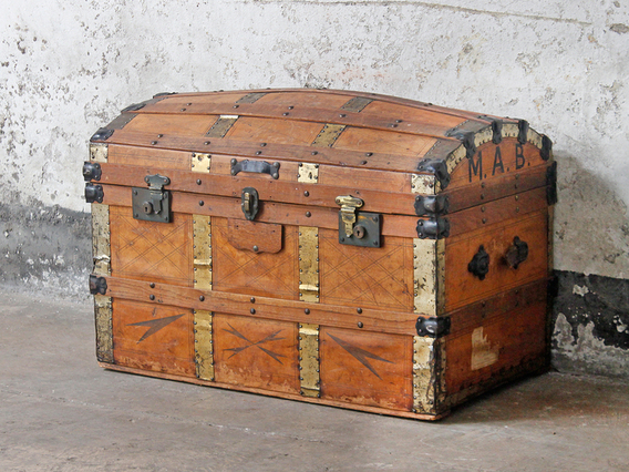 View our  Leather Travel Trunk from the  Old Travel Trunks collection