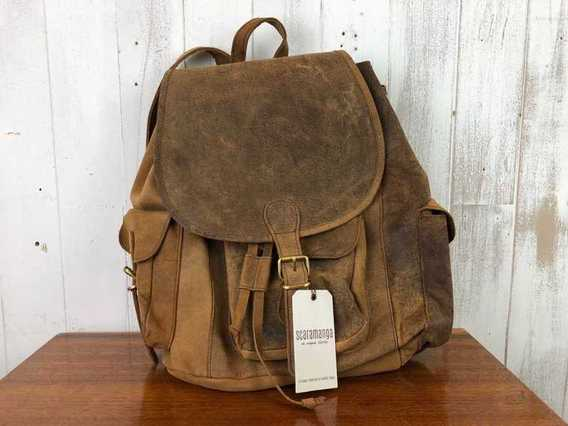 View our  SECONDS Boho Leather Backpack Large from the  Sold collection