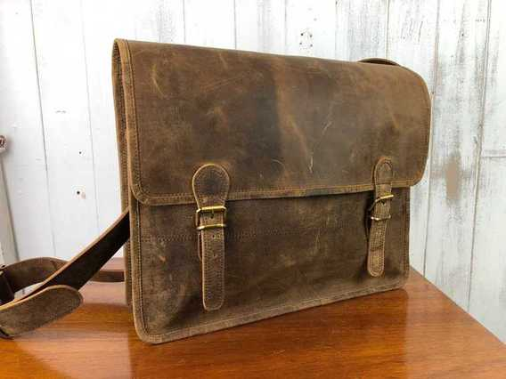 View our  SECONDS Large Vintage Satchel 16 Inch from the  Sold collection