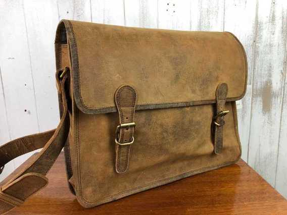View our  SECONDS Large Vintage Satchel 16 Inch from the   collection