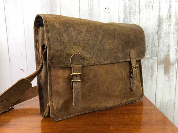 View our  SECONDS Medium Vintage Satchel 15 Inch from the  Sold collection