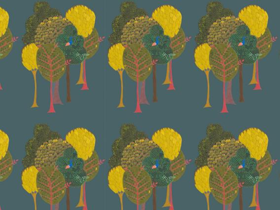 Enchanted (SML) Wallpaper Sample: Midnight Blue-ES1902MBS