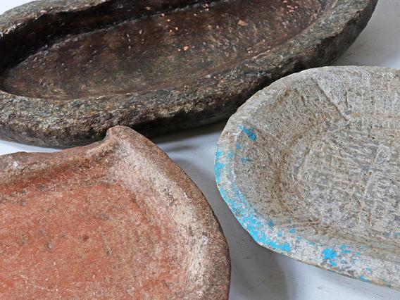 Antique Stone Bowl - Extra Large