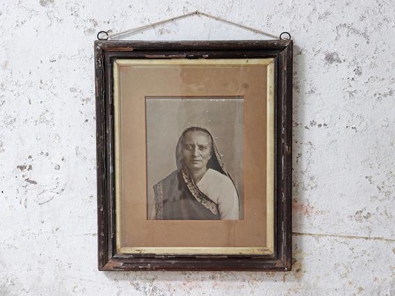 Vintage Indian Woman Portrait