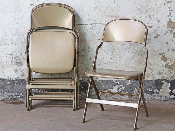 View our  Metal Vintage Folding Chair - Gold from the   collection