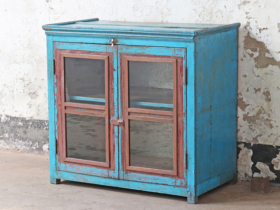 View our  Vintage Blue Display Cabinet from the   collection