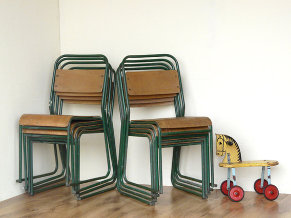 View our  Vintage Chairs By Remploy (Pair Of Green) from the   collection