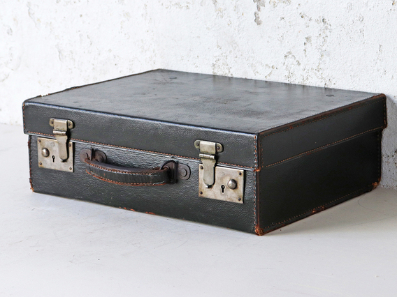 View our  Small Green Leather Suitcase from the  Sold collection