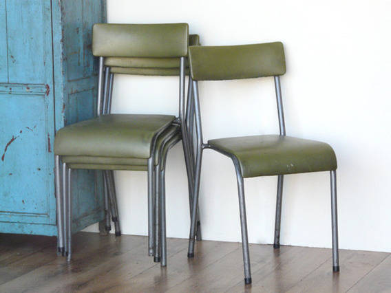 View our  Green Retro Chairs (Set Of Four) from the   collection