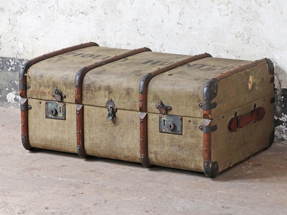 View our  Green Steamer Trunk from the  Old Travel Trunks collection